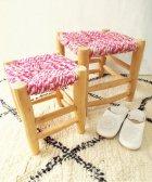 オレンジの椅子 ピンク 大・小