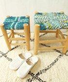 オレンジの椅子 青緑 大・小