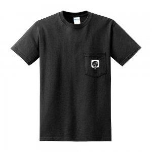 刺繍ポケット付きTシャツ 「ぼくの好きな音楽」