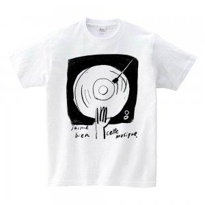 Tシャツ 「ぼくの好きな音楽 ホワイト」