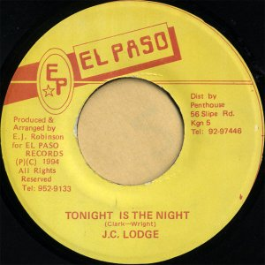 J.C.LODGE / Tonight Is The Night [7INCH]