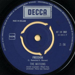 THE MOTIONS / Freedom [7INCH]