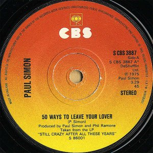 PAUL SIMON / 50 Ways To Leave Your Lover [7INCH]