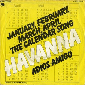 HAVANNA / The Calendar Song (January, February..) [7INCH]