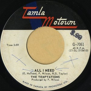 THE TEMPTATIONS / All I Need [7INCH]