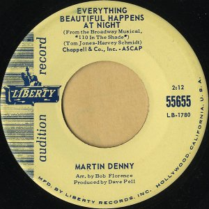 MARTIN DENNY / Everything Beautiful Happens At Night [7INCH]