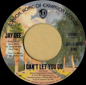 JAY DEE / I Can't Let You Go [7INCH]