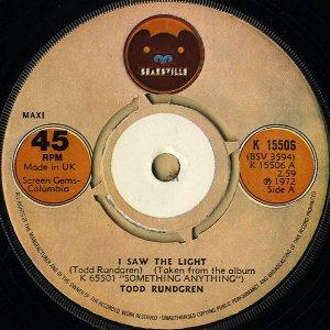 TODD RUNDGREN / I Saw The Light [7INCH]
