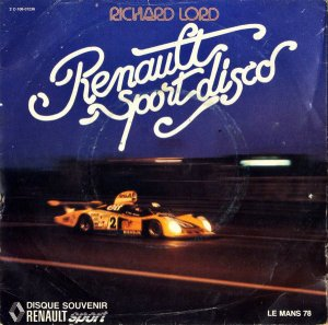 RICHARD LORD / Renault Sport Disco [7INCH]