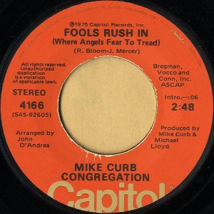 MIKE CURB CONGREGATION / Fools Rush In [7INCH]