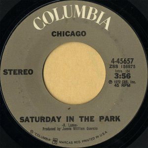 CHICAGO / Saturday In The Park [7INCH]