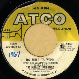 THE BUFFALO SPRINGFIELD / For What It's Worth [7INCH]