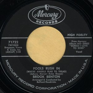 BROOK BENTON / Fools Rush In [7INCH]
