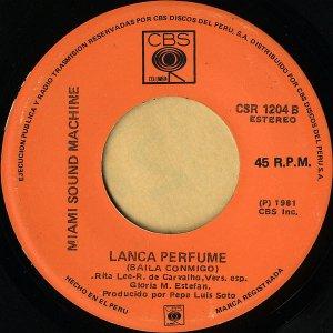 MIAMI SOUND MACHINE / Lanca Perfume (Baila Conmigo) [7INCH]