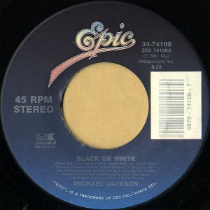MICHAEL JACKSON / Black Or White [7INCH]