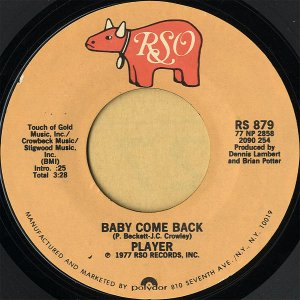 PLAYER / Baby Come Back [7INCH]