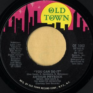 ARTHUR PRYSOCK / You Can Do It [7INCH]