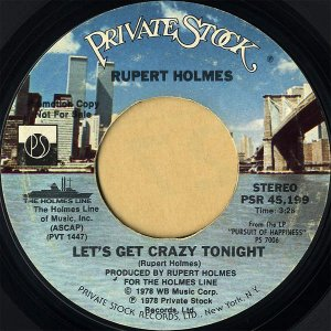 RUPERT HOLMES / Let's Get Crazy Tonight [7INCH]