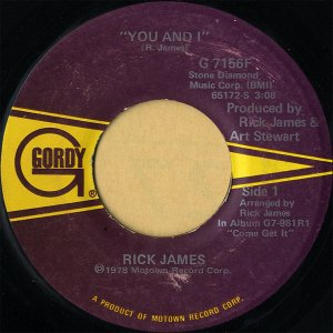 RICK JAMES / You And I [7INCH]