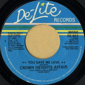 CROWN HEIGHTS AFFAIR / You Gave Me Love [7INCH]
