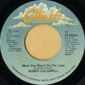 BOBBY CALDWELL / What You Won't Do For Love [7INCH]