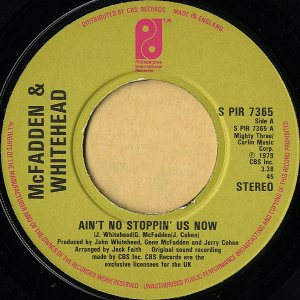 McFADDEN AND WHITEHEAD / Ain't No Stoppin' Us Now [7INCH]