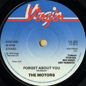 THE MOTORS / Forget About You [7INCH]