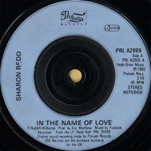 SHARON REDD / In The Name Of Love [7INCH]