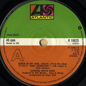 AVERAGE WHITE BAND / Queen Of My Soul [7INCH]