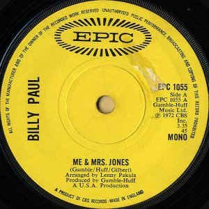 BILLY PAUL / Me And Mrs Jones [7INCH]