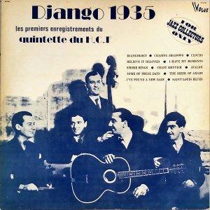 DJANGO REINHARDT / Django 1935 Les Premiers Enregistrements Du Quintette Du H.C.F. [LP]