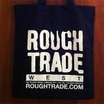 ROUGH TRADE RECORDS TOTE - BLACK