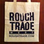 ROUGH TRADE RECORDS TOTE - NATURAL