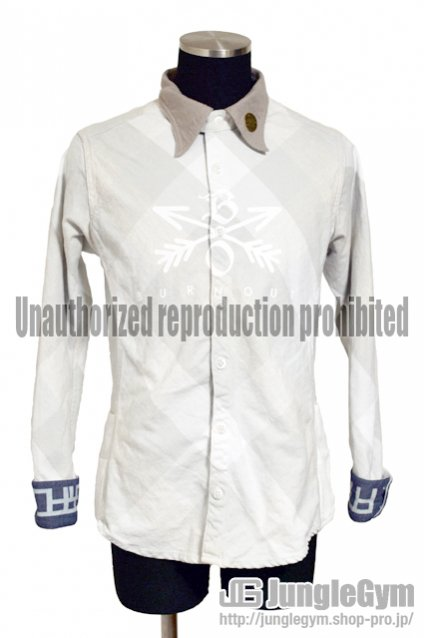 Burnout(バーンアウト)Crossed Arrows Check Shirt / ホワイトチェック