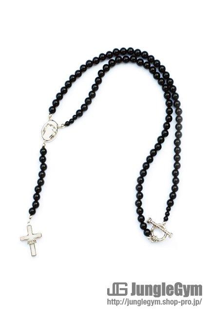 SAHRIVAR(シャフリーヴァル)Enameled Cross Rosary (Silver 925) エナメルWHITE