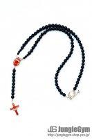 ☆在庫あり SAHRIVAR(シャフリーヴァル)Enameled Cross Rosary (Silver 925) エナメルRED