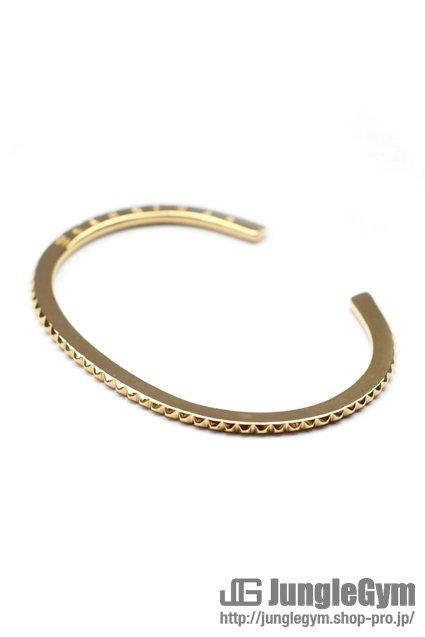 ☆在庫あり SAHRIVAR(シャフリーヴァル)Studs Thin Bangle (Gold on Brass)