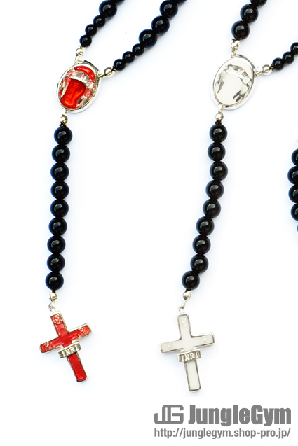 ★受注生産予約 SAHRIVAR(シャフリーヴァル)Enameled Cross Rosary (Silver925)