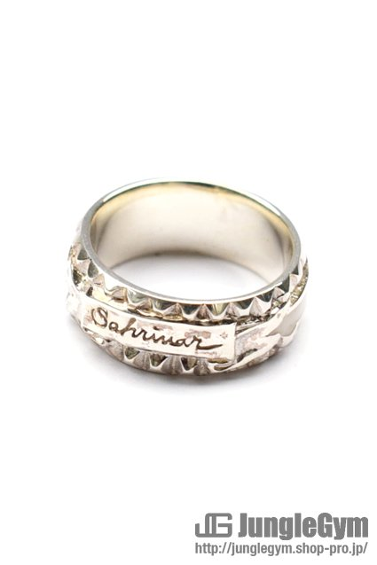 ★受注生産予約 SAHRIVAR(シャフリーヴァル)Studs Enameled Ring (Silver925)