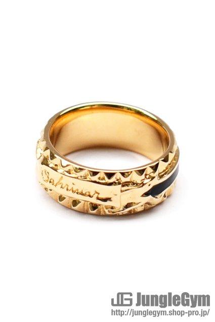 ★受注生産予約 SAHRIVAR(シャフリーヴァル)Studs Enameled Ring (Gold on Brass)