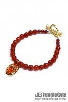 ☆在庫あり SAHRIVAR(シャフリーヴァル)Predatory Bracelet (Red Agate) / Enamel Red