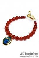 ☆在庫あり SAHRIVAR(シャフリーヴァル)Predatory Bracelet (Red Agate) / Enamel Blue レディースサイズ