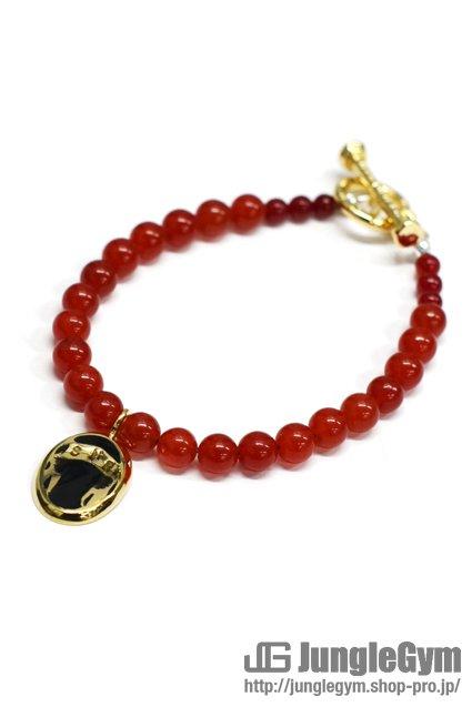 ☆在庫あり SAHRIVAR(シャフリーヴァル)Predatory Bracelet (Red Agate) / Enamel Black レディースサイズ