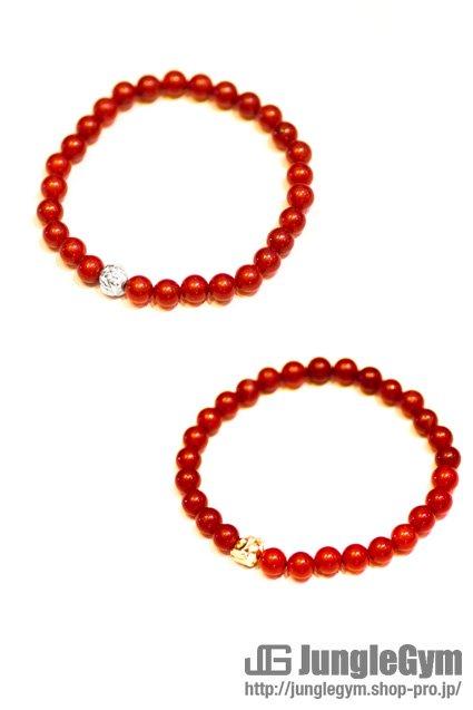 ★受注生産予約 SAHRIVAR(シャフリーヴァル)Jesus Ball Bracelet(Red Agate)