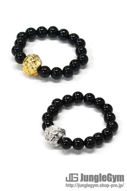 ■受注生産予約(8/9 am10:00まで)■ SAHRIVAR(シャフリーヴァル)Jesus Ball Ring(Onyx)