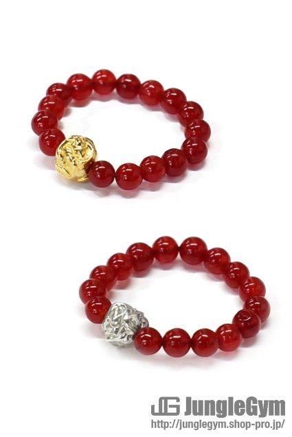 ■受注生産予約(8/9 am10:00まで)■ SAHRIVAR(シャフリーヴァル)Jesus Ball Ring(Red Agate)