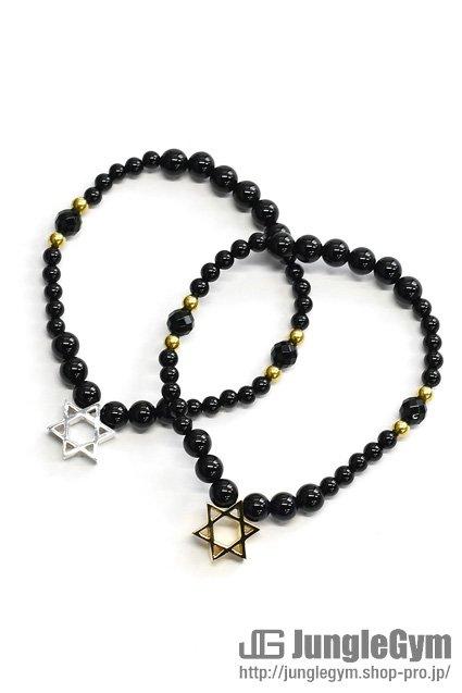 ★受注生産予約 SAHRIVAR(シャフリーヴァル)Hexagram Bracelet(Onyx)