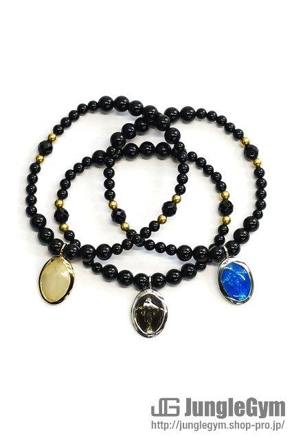 SAHRIVAR(シャフリーヴァル)Maria Beads Enameled Bracelet(Onyx)