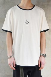 dirtytoy(ダーティートイ)Diamonds Logo Piping T-Shirt / ナチュラル