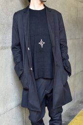 dirtytoy(ダーティートイ)Reversible Long Jacket / ブラック
